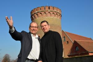 Arndt Meißner und Gerhard Hanke im Gespräch